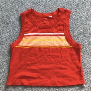 Pacsun Red Cropped Racerback Tank